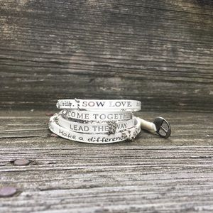 Jewelry - White Humanity for All wrap bracelet